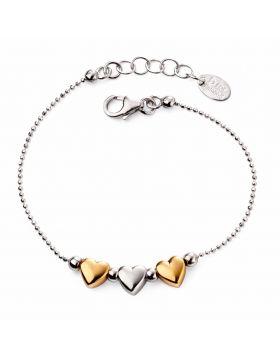 Gold Plated Triple Heart Bracelet