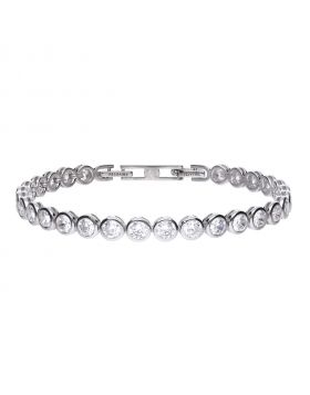 7 ct tennis bracelet bezel set with Diamonfire cubic zirconia
