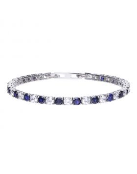 9.50 ct tennis bracelet with white and blue Diamonfire cubic zirconia