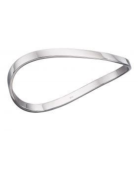 Silver wave bangle