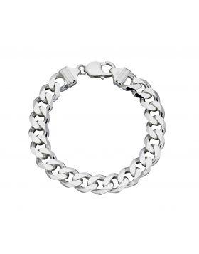 Heavyweight diamond cut bracelet 22cm