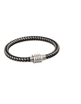 Metal tube woven bracelet hexagon clasp