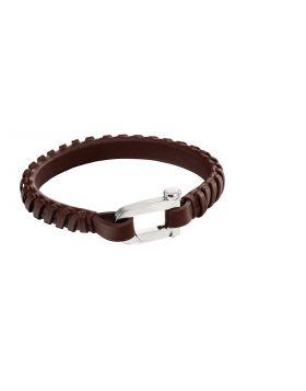 Buckle clasp bracelet brown