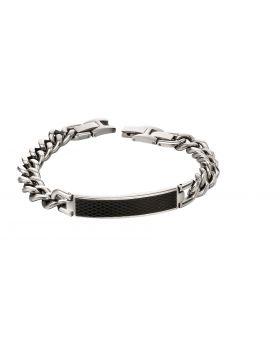 Textured ID chain bracelet