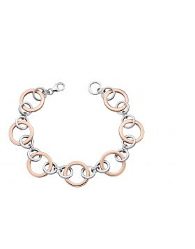 Silver and Rose Gold Multi Link Bracelet