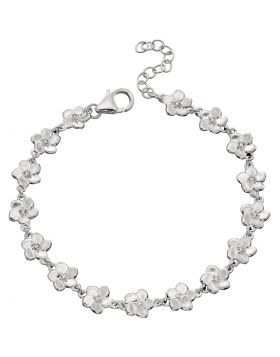 Cubic Zirconia Cherry Blossom Bracelet