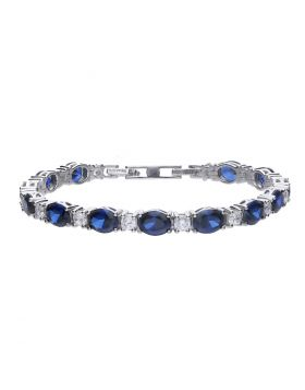 Sapphire Blue Zirconia Tennis Bracelet (B5205)