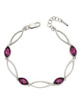 Amethyst Navette Twist Bracelet (B5210M)