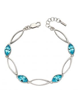 Aqua Navette Twist Bracelet (B5211A)