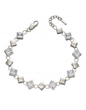 Square Cubic Zirconia Bracelet (B5216C)