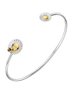 Bee and Flower Gold Plate Bangle (B5220)