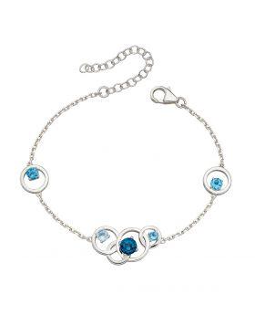 Round Blue Topaz Bracelet (B5224T)