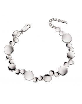 Organic Silver Tennis Bracelet (B5229)