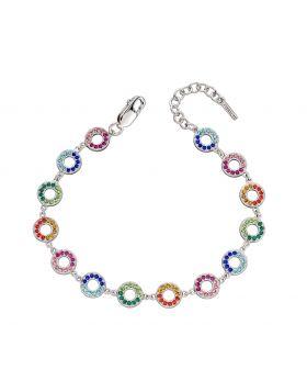 Rainbow Open Disc Bracelet (B5230)