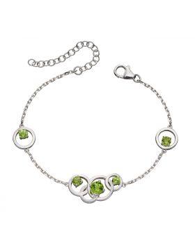Round Green Peridot Bracelet (B5231G)