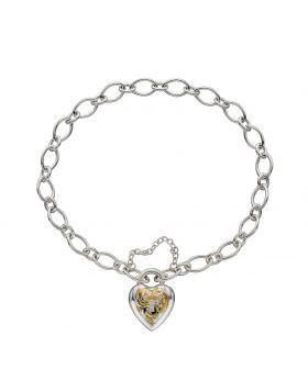 Heart Bracelet With Yellow Gold Plating (B5234)