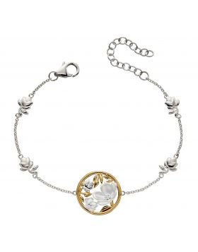 Cherry Blossom Bracelet With Yellow Gold Plating (B5232)