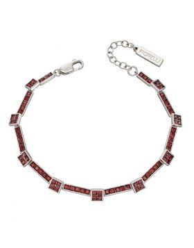 Princess Cut Burgundy Crystal Tennis Bracelet (B5255R)