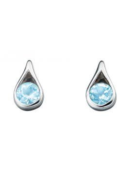 E205T BLUE TOPAZ Teardrop EARRING