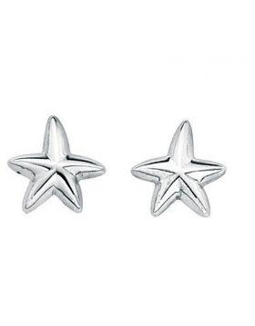 Oxidised Starfish Stud Earrings