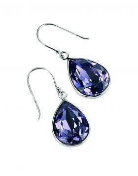 Teardrop Drop Earrings in Tanzanite Crystal E3347M