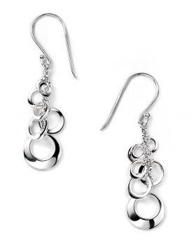 Open Multi Disc Cluster Drop Earrings