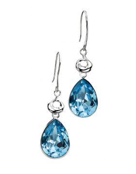 Aquamarine Swarovski Crystal Teardrop Earring
