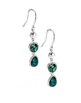 Multi Drop Earrings with Green Ernite Crystals E3973G