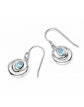 Sky Blue Topaz Double Loop Earrings (E4420T)