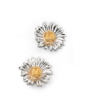 Gold Detail Daisy Stud Earrings