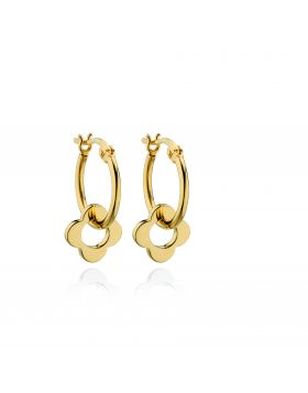 E5229 ORLA GOLD PLT Flower Hoop EAR