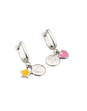 E5349 YELL/PINK Emoticons Hoop EARR