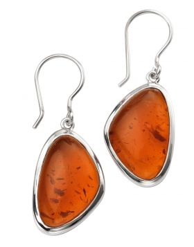 E5384R AMBER Abstract EARRING