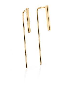 Imitation Gold Bar Pull Through Earrings