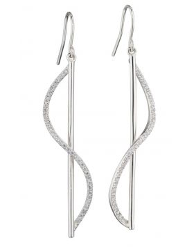 Sculptural 3D Earrings with Cubic Zirconia