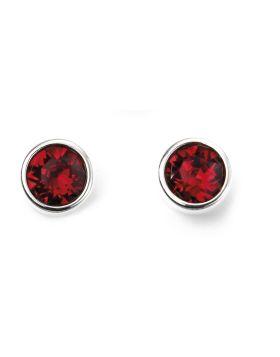 July Birthstone Stud Earrings