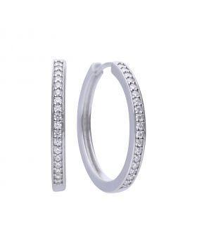 Classic creole hoop earrings with Diamonfire cubic zirconia