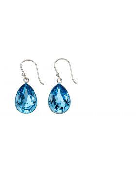 Teardrop Drop Earrings in Aquamarine Crystal E5686T