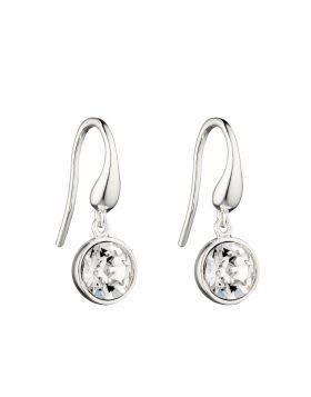 Round Crystal Drop Earrings E5723C