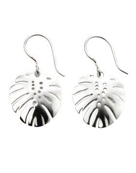 Silver Palm Leaf Earrings
