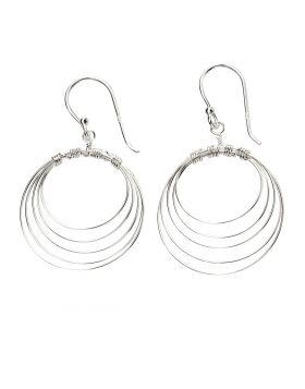 Multi Circle Wire Earrings