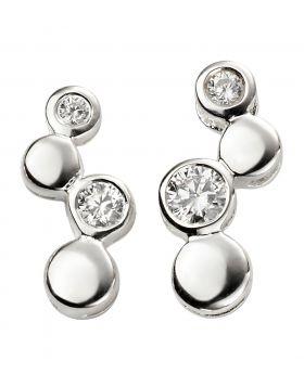 Cubic Zirconia Bubble Earrings