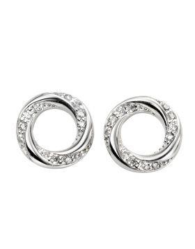 Cubic Zirconia Twisted Earrings