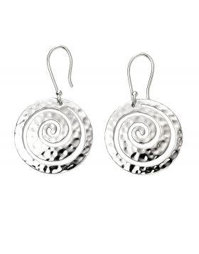 Swirl Textured Disc Earrings