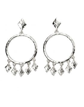Textured Chandelier Earrings