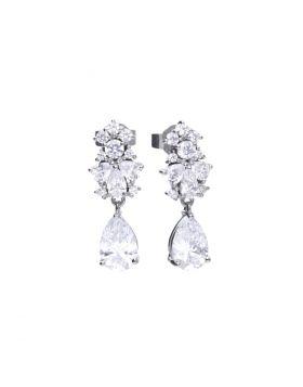 Pear Drop Zirconia Earrings (E5779)