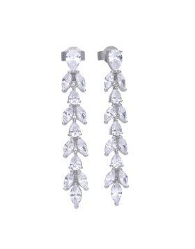 Vine Drop Zirconia Earrings (E5783)