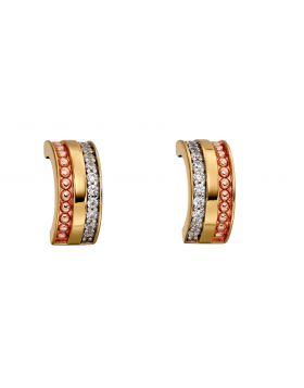 Mixed Plate Barrel Stud Earrings (E5789C)