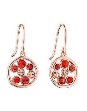 Round Organic Red Stone Earrings (E5794)