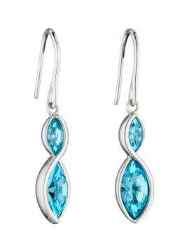Aqua Navette Twist Earrings (E5801A)